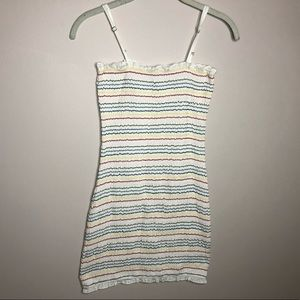 URBAN OUTFITTERS SKINNY RAINBOW DRESS! STRETCHY!